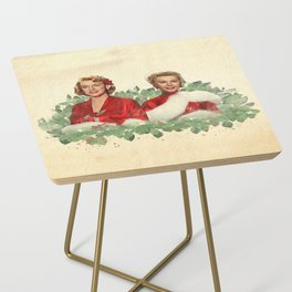 Sisters - A Merry White Christmas Side Table