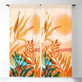 Golden Greek Garden Blackout Curtain