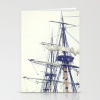 pirate ship Stationery Cards featuring Pirate Ship  by Bree Madden