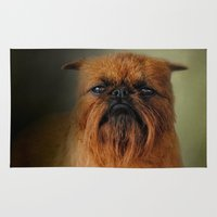 brussels Area & Throw Rugs featuring The Brussels Griffon by Jai Johnson