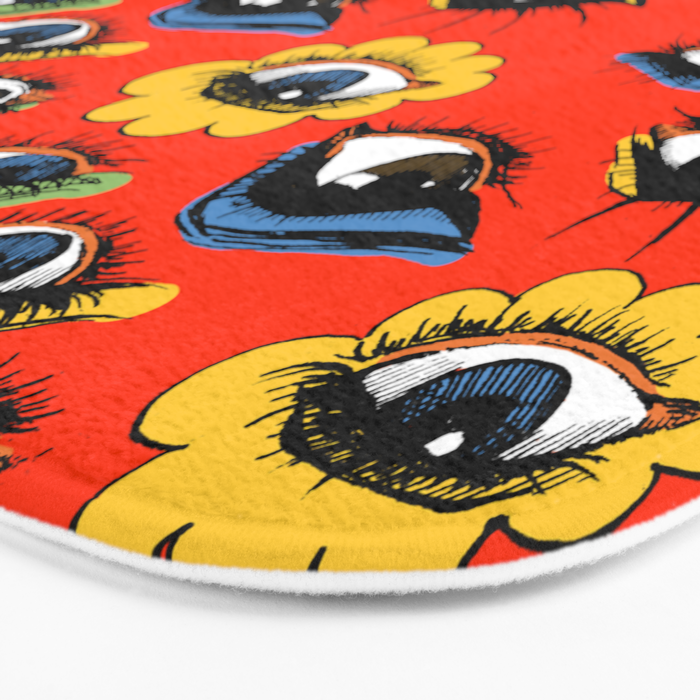 60s Eye Pattern Bath Mat