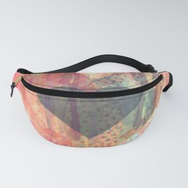 Vintage overlay heart Abstract Fanny Pack