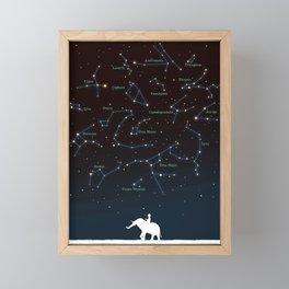 Falling star constellation Framed Mini Art Print