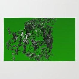 3D green dream Rug