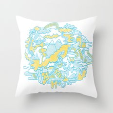 Spaghetti Mountain Throw Pillow