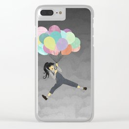 Balloon Ride Clear iPhone Case