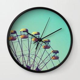 Abandoned ferris wheel in ghost city Pripyat, Chernobyl, Ukraine. Wall Clock