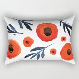 Red Poppies Specimen Rectangular Pillow