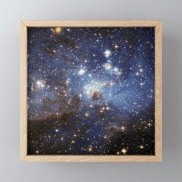 LH 95 stellar nursery in the Large Magellanic Cloud (NASA/ESA Hubble Space Telescope) Framed Mini Art Print