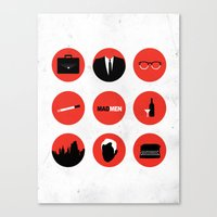 mad men Canvas Prints featuring Mad Men by magicblood