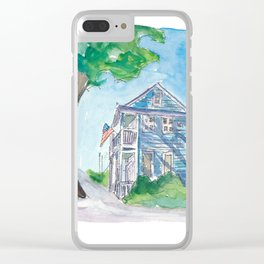 Key West Florida Conch Dream House - Southernmost Street Scene II Clear iPhone Case