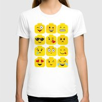 emoji T-shirts featuring Emoji-Minifigure by Raddington Falls