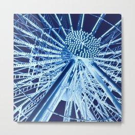 Ferris wheel in midnight blue Metal Print