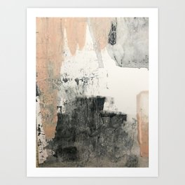 Peace and Quiet [1]: a pretty, minimal abstract piece in gray and peach by Alyssa Hamilton Art Art Print