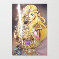 zelda Canvas Prints featuring Zelda by Mika
