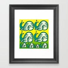 Schneckenmuster. Framed Art Print
