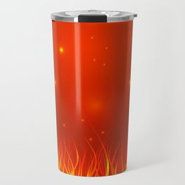 Flames from the fire and spark. Travel Mug