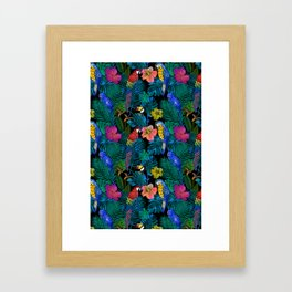 Tropical Birds and Botanicals Framed Art Print
