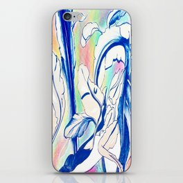 Plant in Blue Marker - Leaf of Life Miracle Leaf - Rainbow Colorful 2 iPhone Skin