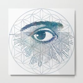 Mandala Vision Flower of Life Metal Print