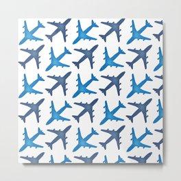Plane Pattern Metal Print