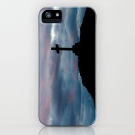 The cross on the hill iPhone Case