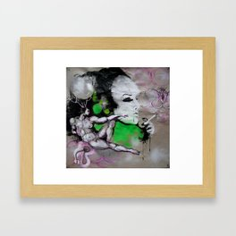 Power cloud Framed Art Print