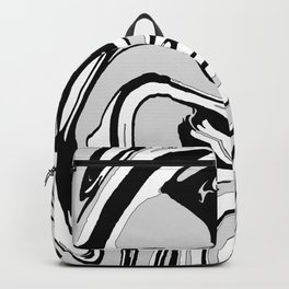 Black, White and Gray Graphic Paint Swirl Pattern Effect Backpack