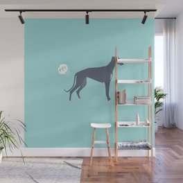 Greyhound farting dog cute funny dog gifts pure breed dogs Wall Mural