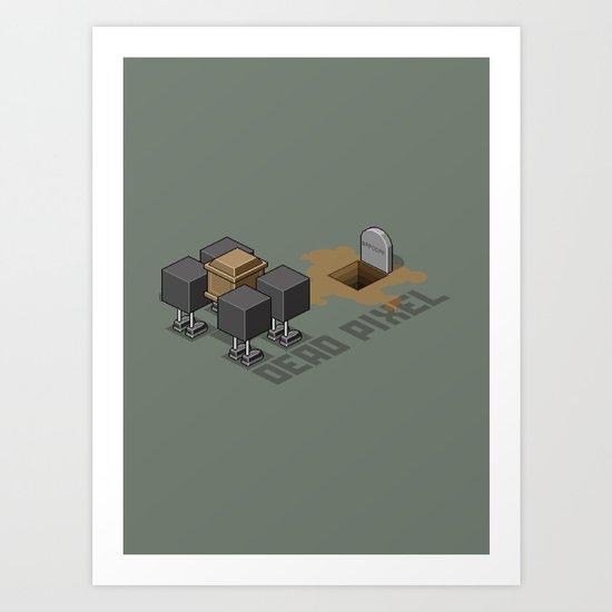 Dead Pixel Art Print