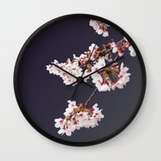 Cherry Blossoms (illustration) Wall Clock