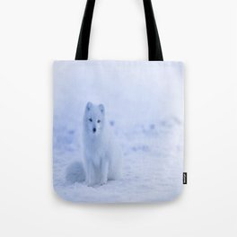The Arctic Fox in Iceland Tote Bag