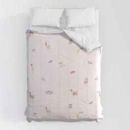 Llama Bubbles Comforters