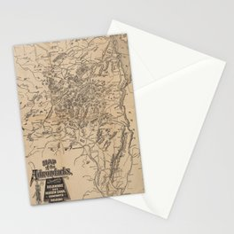 Vintage Map of The Adirondack Mountains (1880) V.2 Stationery Cards