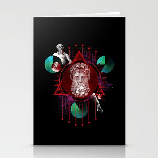 Geometric Gods Stationery Cards