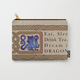 Eat, Sleep, Tea & Dragons Carry-All Pouch