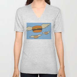 Bob's Burgers Flying Hamburger picture Unisex V-Neck