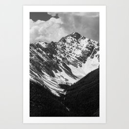 Black and White Canadian Rockies Art Print