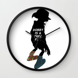 Dobby is a free elf!  Wall Clock