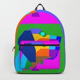 Pop Art Dog Geometric Wpap Style Backpack