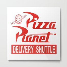 Pizza Planet Metal Print