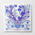 Floral Antlers – Blue Palette by catcoq