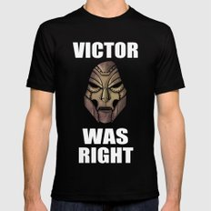 Victor Was Right SMALL Black Mens Fitted Tee