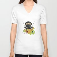 ninja turtles V-neck T-shirts featuring Ninja Turtles by Adamzworld