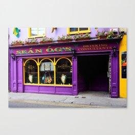 Colorful Irish Pub Canvas Print