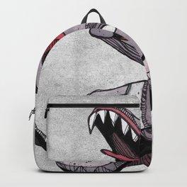 Crazy dog watercolor illustration Backpack