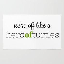 We're Off Like a Herd of Turtles Rug