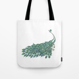 My Peacock Art in Teals and Blues Tote Bag