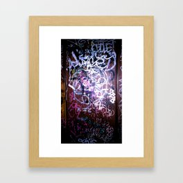 Bathroom Graffiti II Framed Art Print