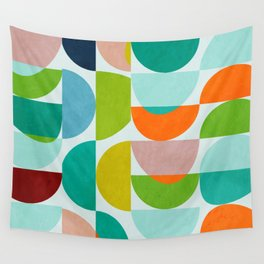 shapes abstract III Wall Tapestry